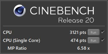 HP ENVY x360 15 CINEBENCH