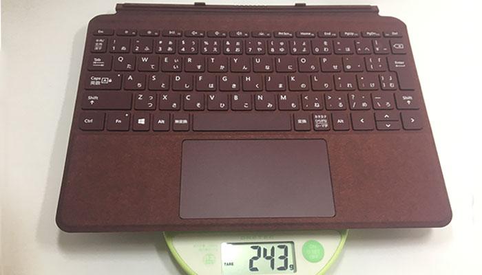Surface Go タイプカバー重量