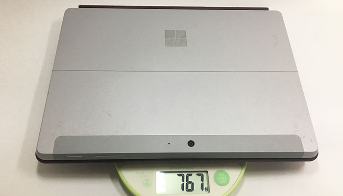 Surface Go キーボード付きの重さ