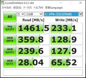 Inspiron14 SSDベンチマーク