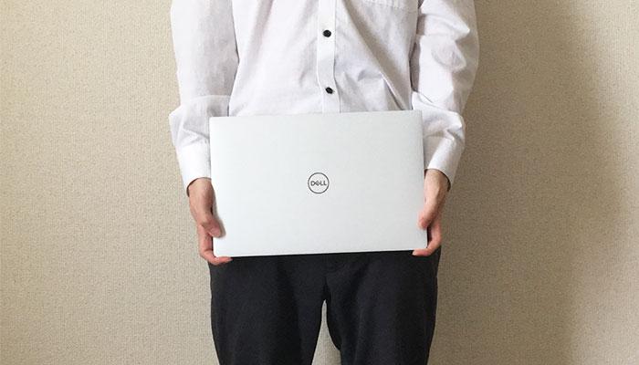 Dell XPS13 手で持っちゃう