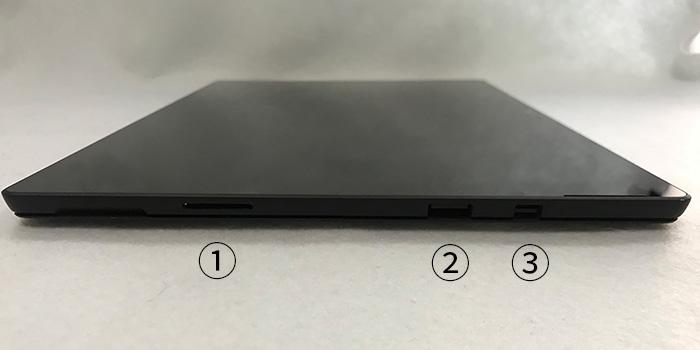 Surface Pro 6 インターフェース