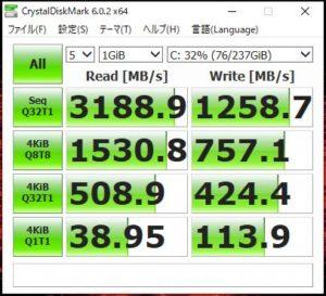 OMEN by HP 15 SSDベンチマーク結果