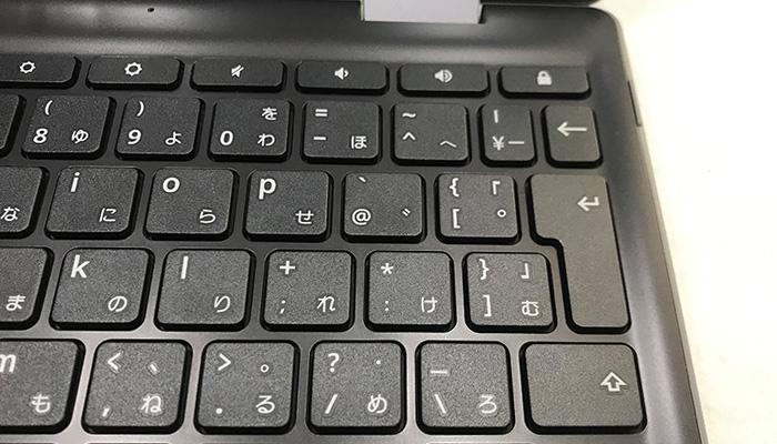 ASUS Chromebook C214MA キーボードマイナス点