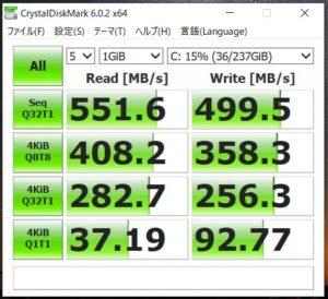 m-Book F537SD SSDベンチマーク