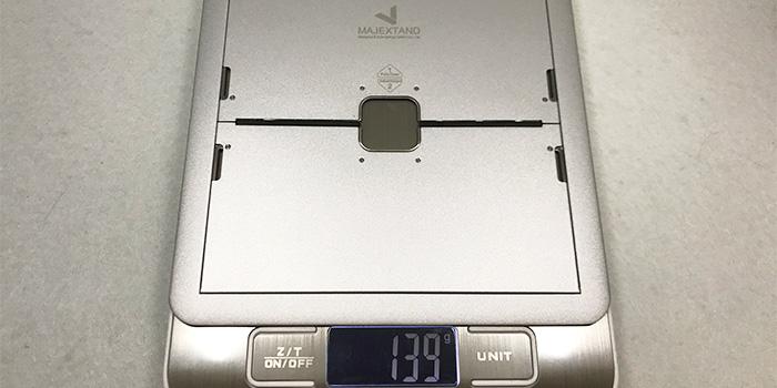 Majextandの重量