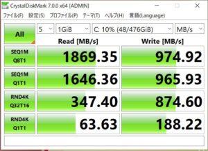 vivobook s s531 SSDベンチマーク