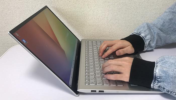 VivoBook S S531 タイピング