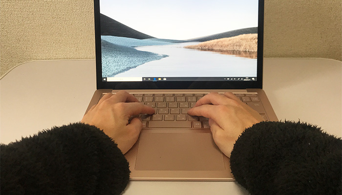Laptop3 タイピング