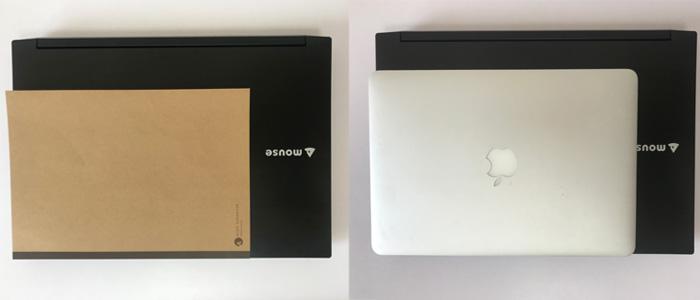 m-book W890 サイズ比較