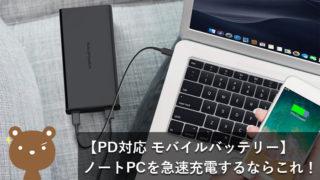 【2020最新】ノートPCをUSB PD(急速)充電できるおすすめのモバイルバッテリーを厳選!【出先でも安心】