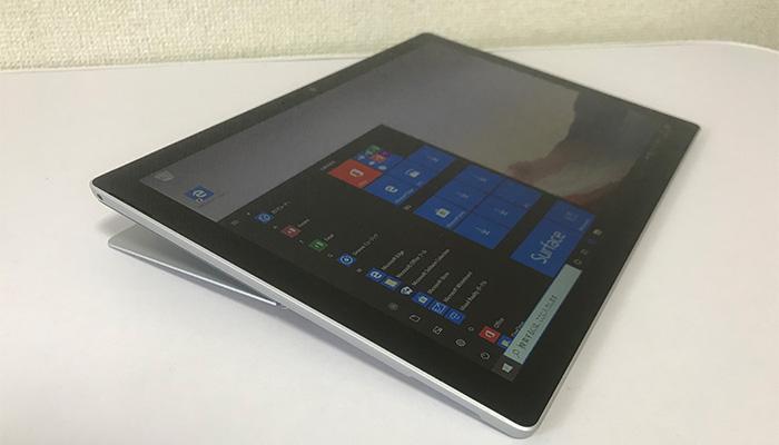 Surface Pro7 最大傾斜