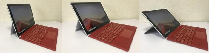 Surface Pro7 キックスタンド角度