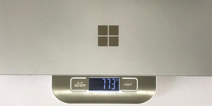 Surface Pro7 本体重量