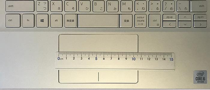 Inspiron 13 5000(5391) タッチパッドの幅