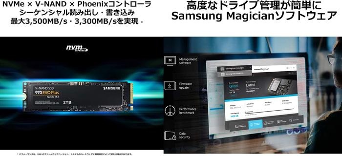 【Samsung】970 EVO Plus