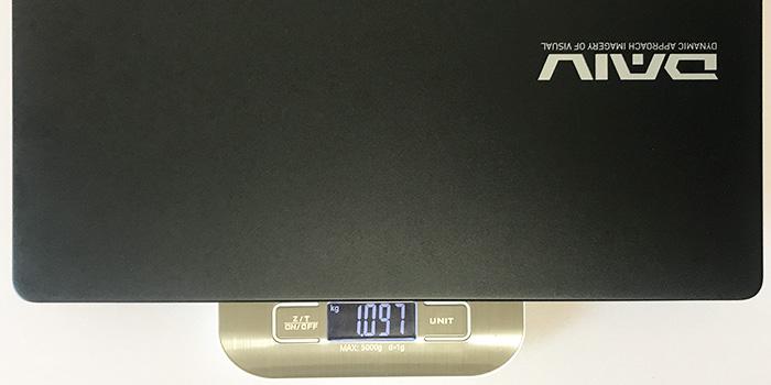 DAIV 4N 本体重量