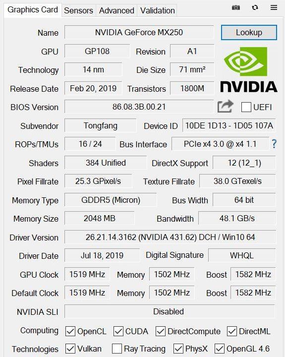 DAIV 4N GPU-Z