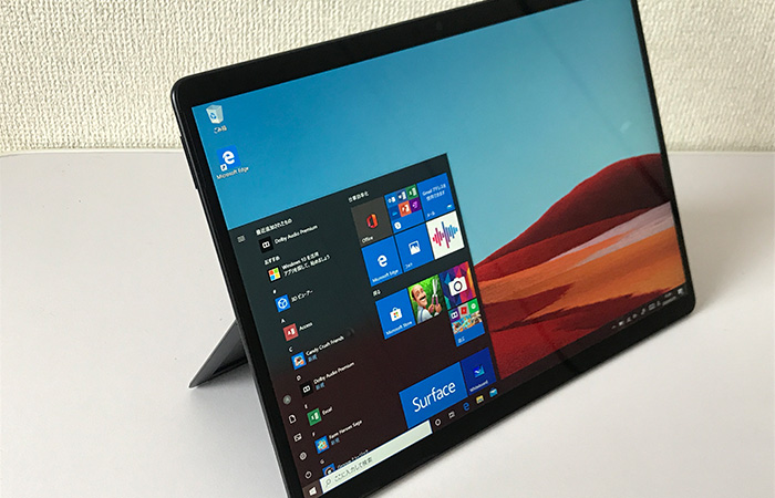 Surface Pro X 斜めから