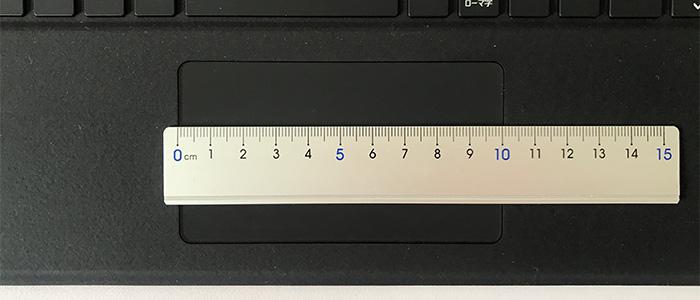 Surface Pro X タッチパッドの幅