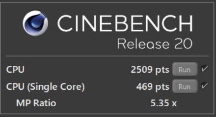 GALLERIA GCR1660TGF-QC-G CINEBENCH