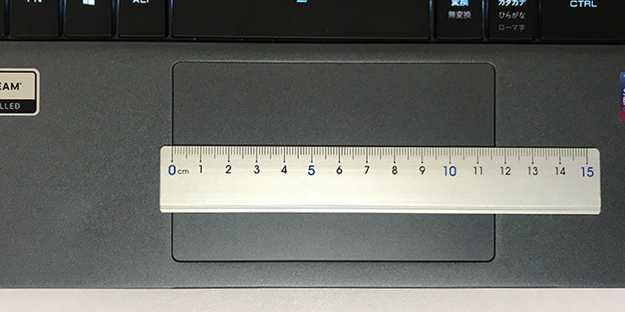 GALLERIA GCR1660TGF-QC-G タッチパッド