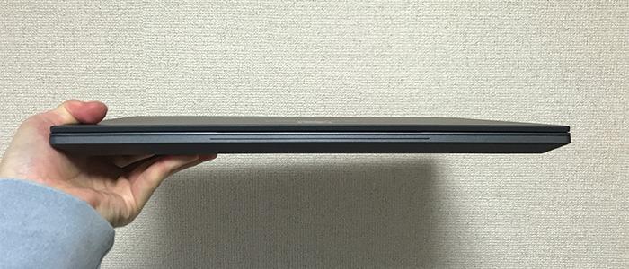 GALLERIA GCR1660TGF-QC-G 薄さ
