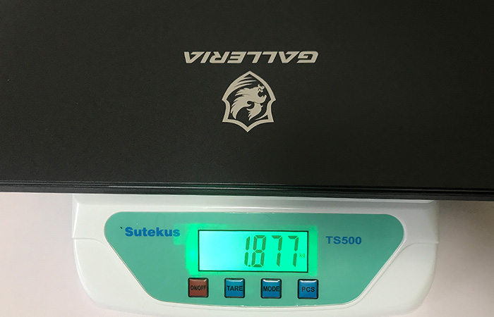 GALLERIA GCR1660TGF-QC-G 重量