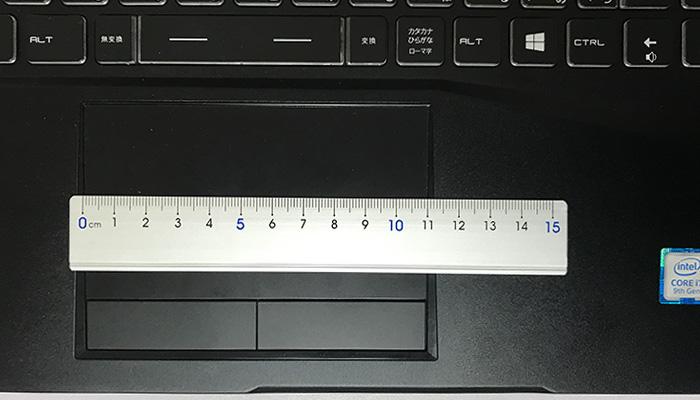 GALLERIA GCR2070RNF-E タッチパッド