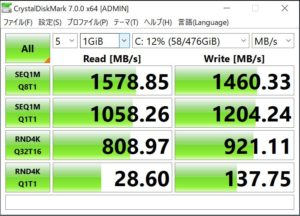MOUSE DAIV3N SSDベンチ