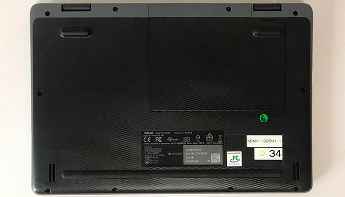 ASUS Chromebook C204MA 底面