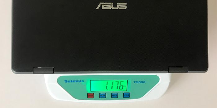 ASUS Chromebook C204MA 本体重量
