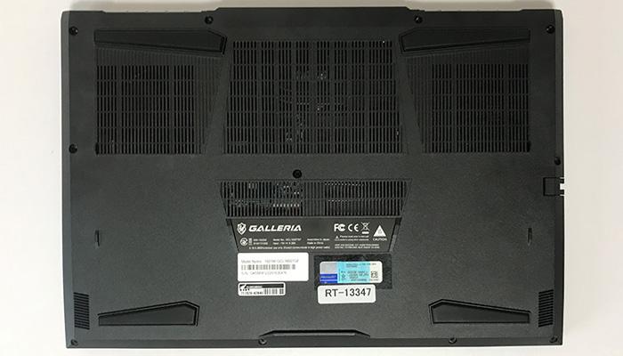 GALLERIA GCL1650TGF 底面