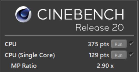Surface Go2 CINEBENCH