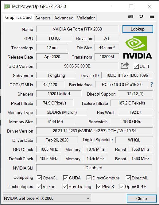 DAIV5N GPU-Z