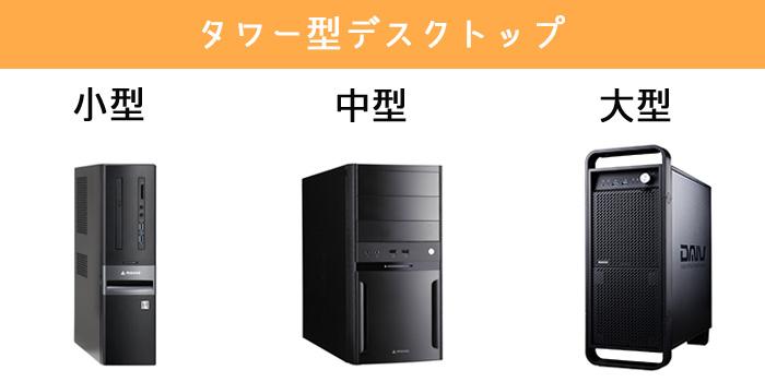 タワー型デスクトップ