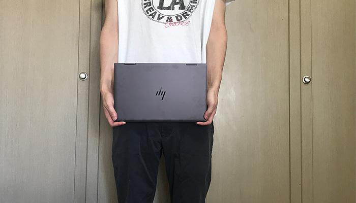 HP ENVY x360 13 手で持った感じ