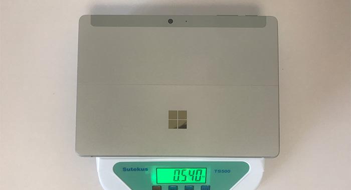 Surface Go2 本体重量