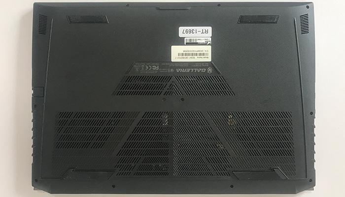 GALLERIA GR1650TGF-T 底面