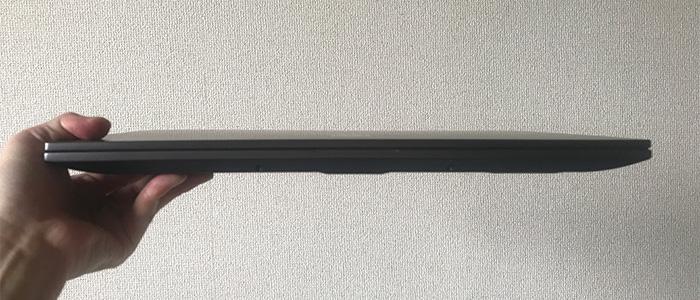 GALLERIA GR1650TGF-T 薄さ