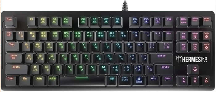 GAMDIAS Hermes E3 RGB メカニカルキーボード 91キー