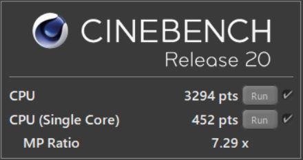 GALLERIA GR1650TGF-T CINEBENCH