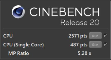 G-Tune P5_CINEBENCH