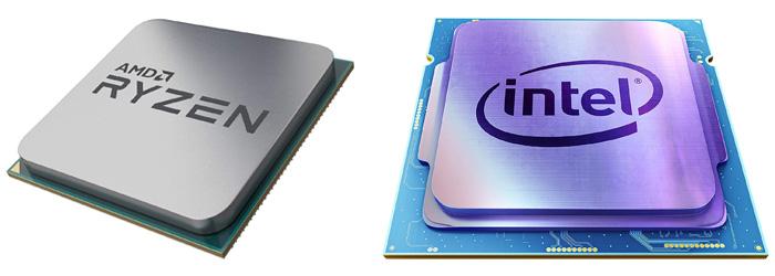 AMD Ryzen と Intel Core i の比較