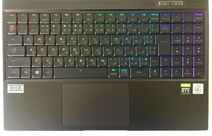 G-Tune H5のキーボード2
