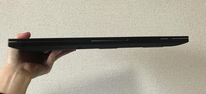 G-Tune H5の薄さ