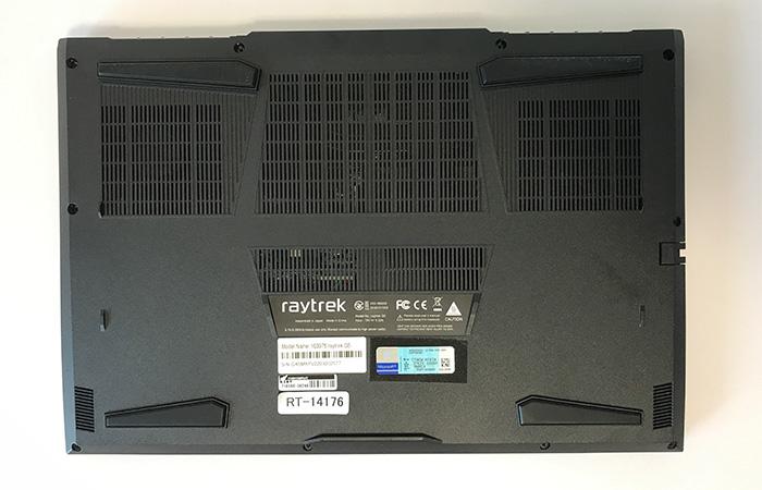 raytrek 5Gの底面