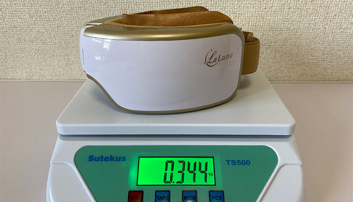 LaLuna アイマッサージャー重量