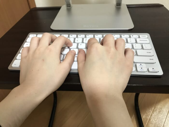 Anker Keyboard typing3