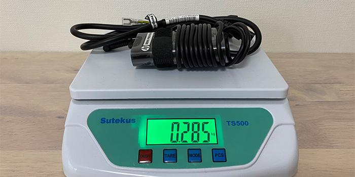 HP-ENVY-13baのAC重量